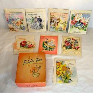 Twinkle tone miniature. (8)Vintage greeting cards.